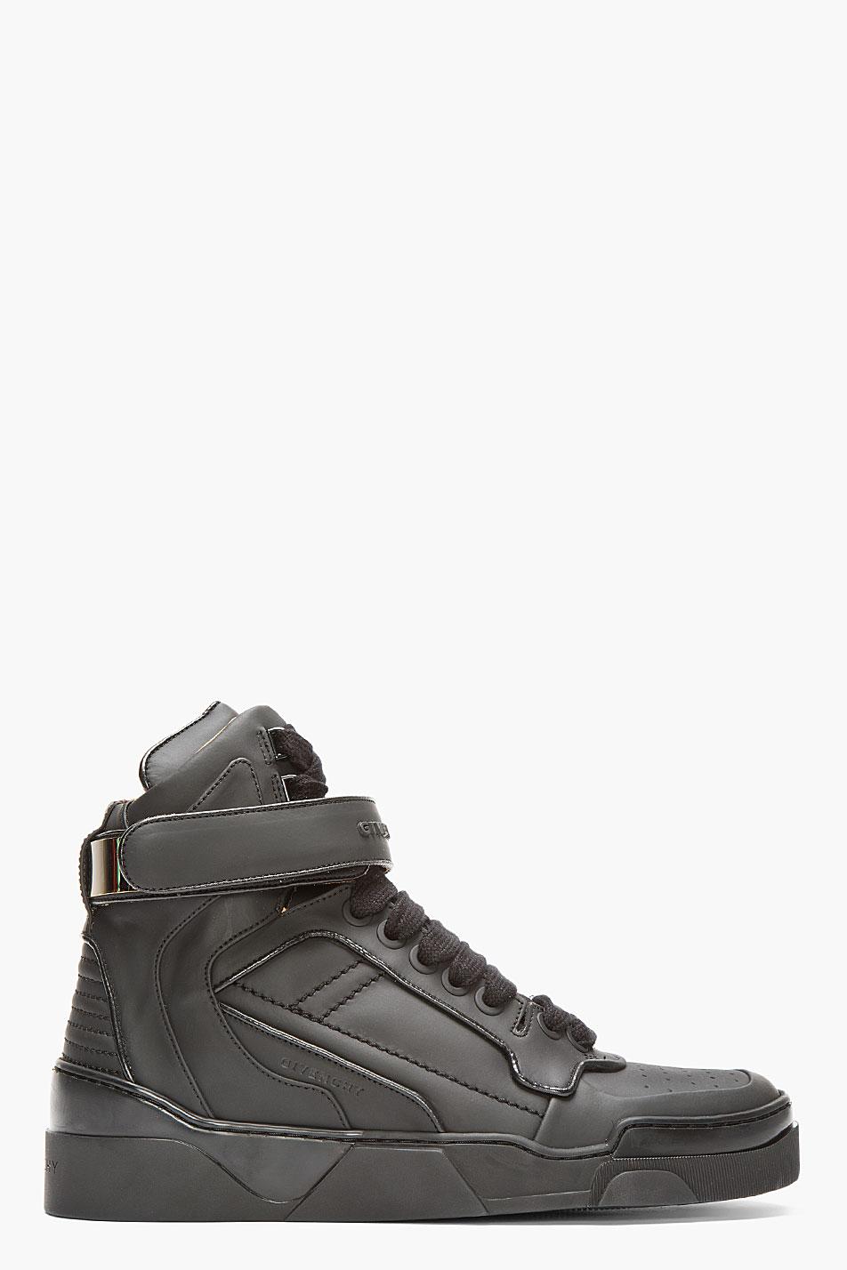 Matte Black × Metal Velcro strap givenchy sneakers 1