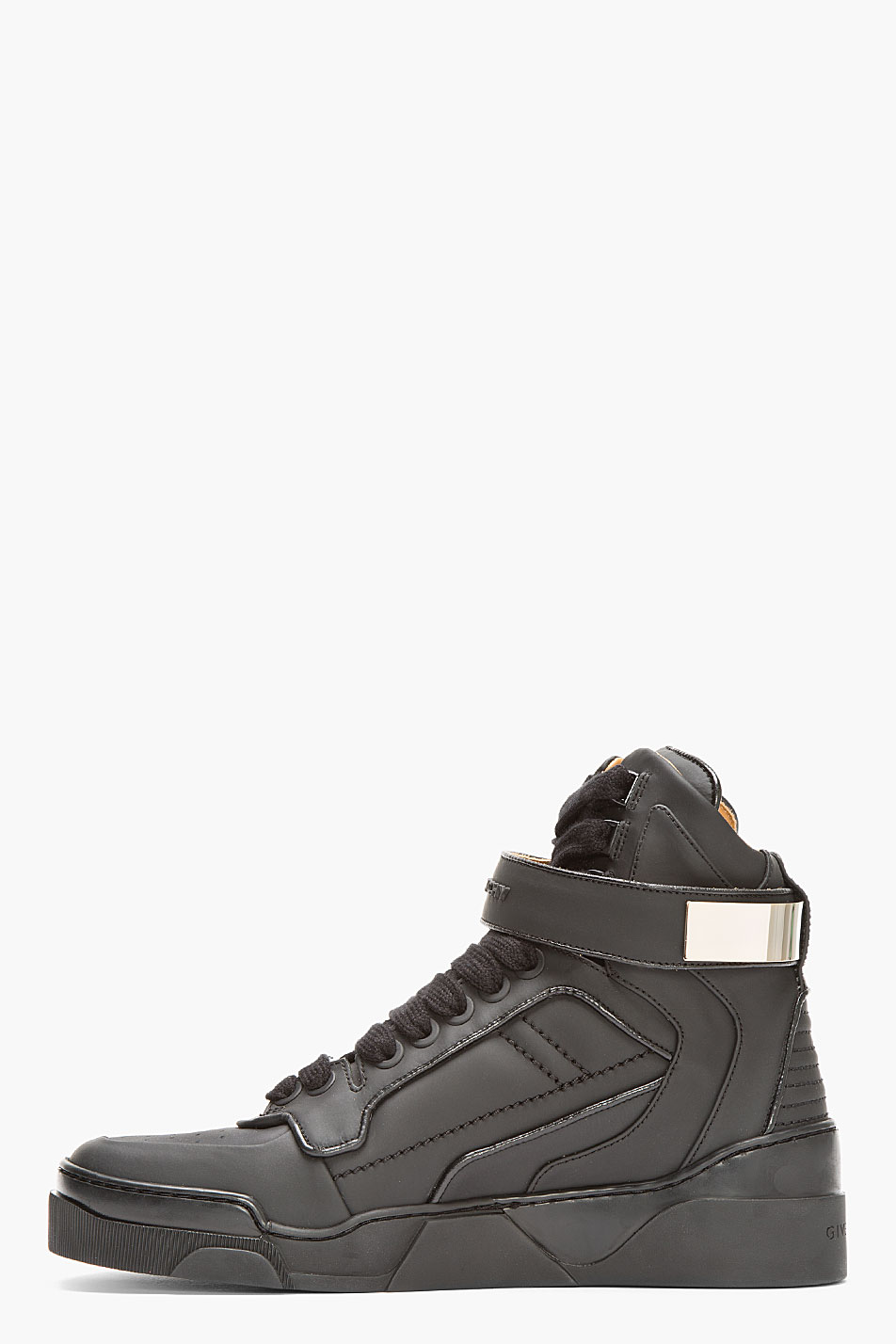 Matte Black × Metal Velcro strap givenchy sneakers 2