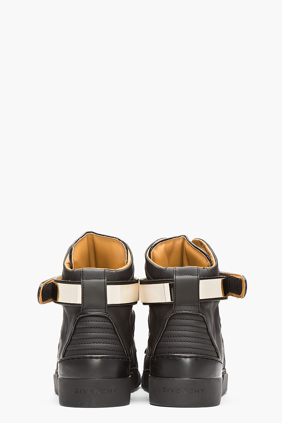 Matte Black × Metal Velcro strap givenchy sneakers 2