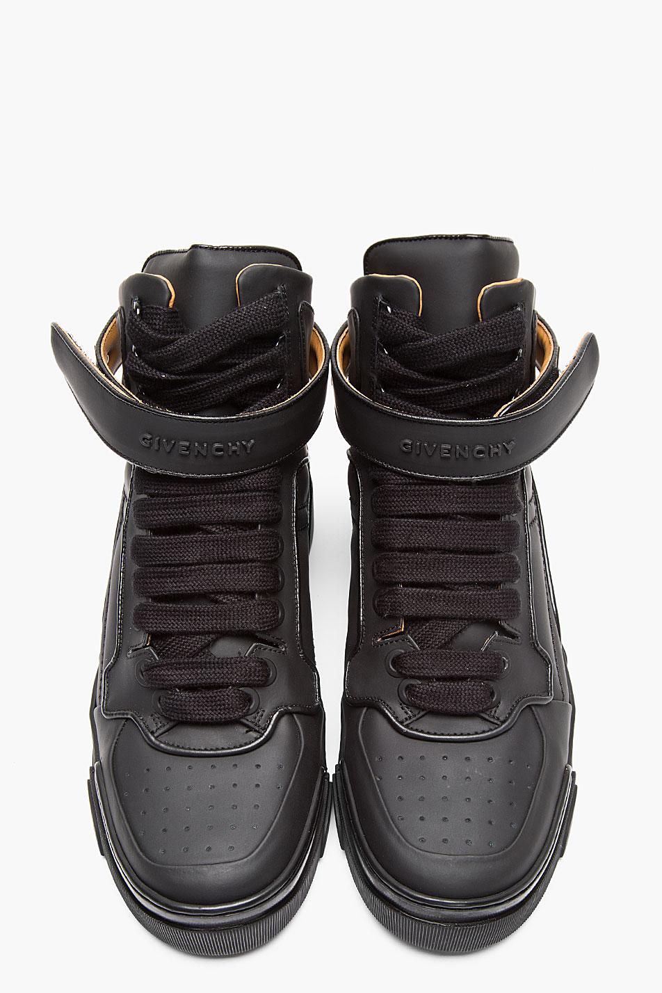 Matte Black × Metal Velcro strap givenchy sneakers 3