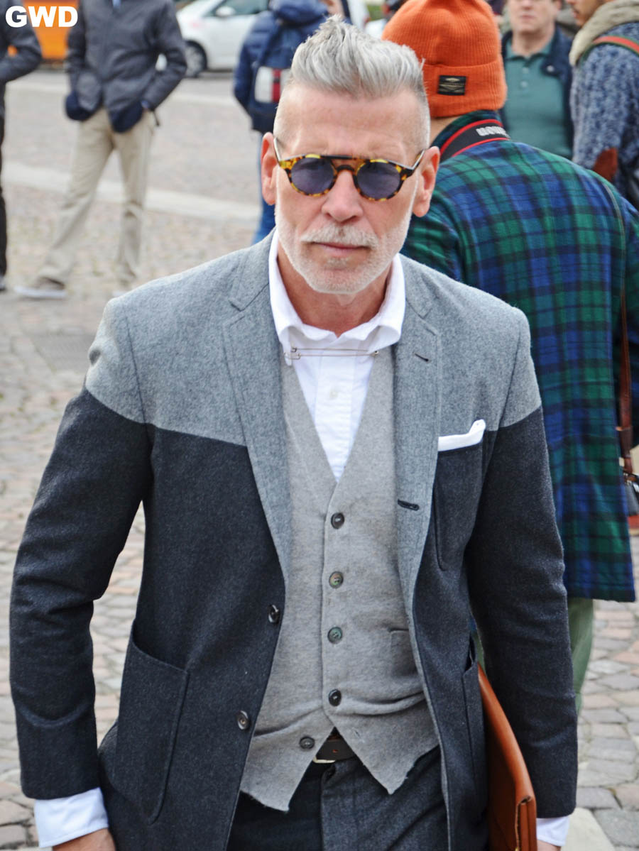 Nick Wooster Two Tone Jacket Tortoiseshell blue lenses