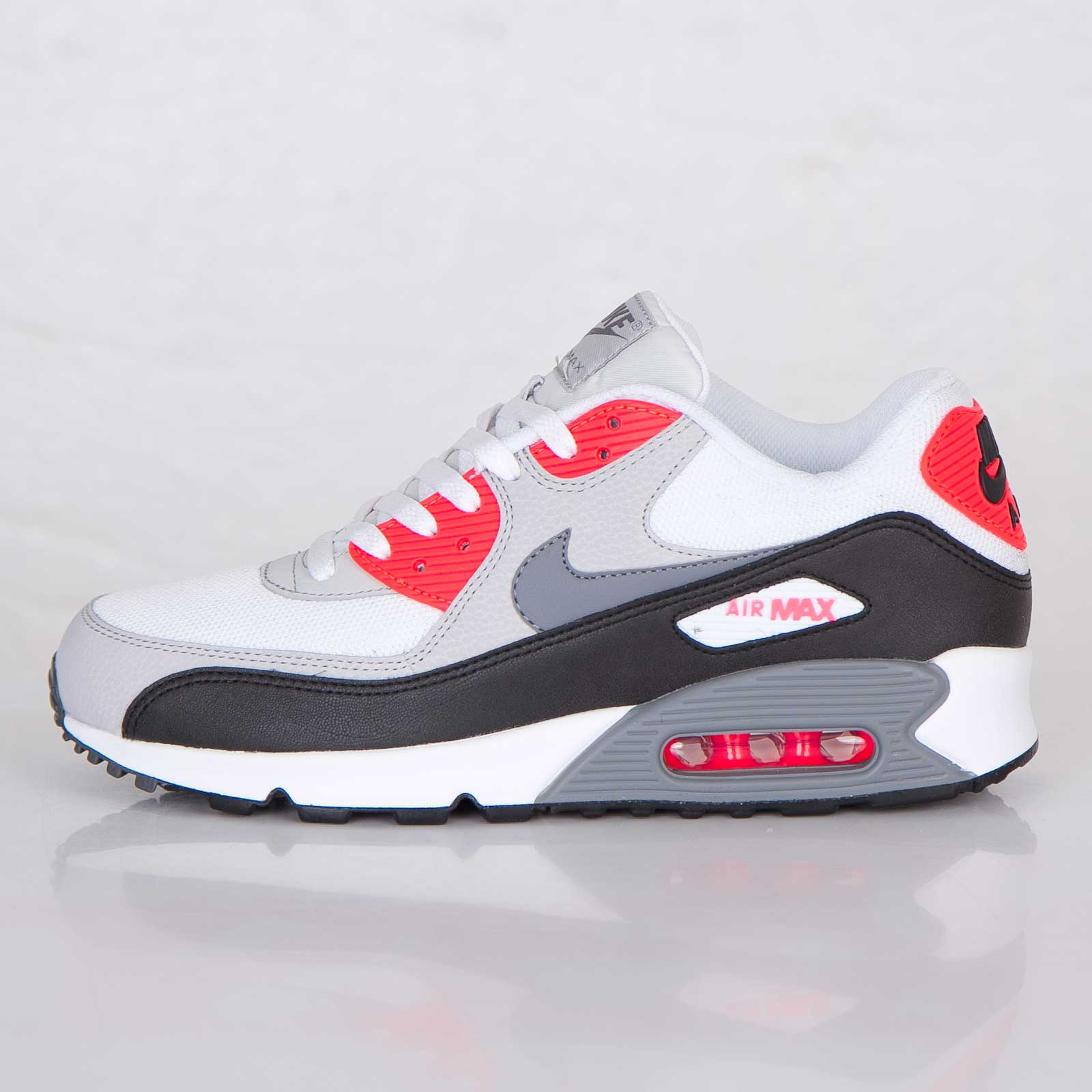reputable site 332d7 84e10 air max 90 white red black