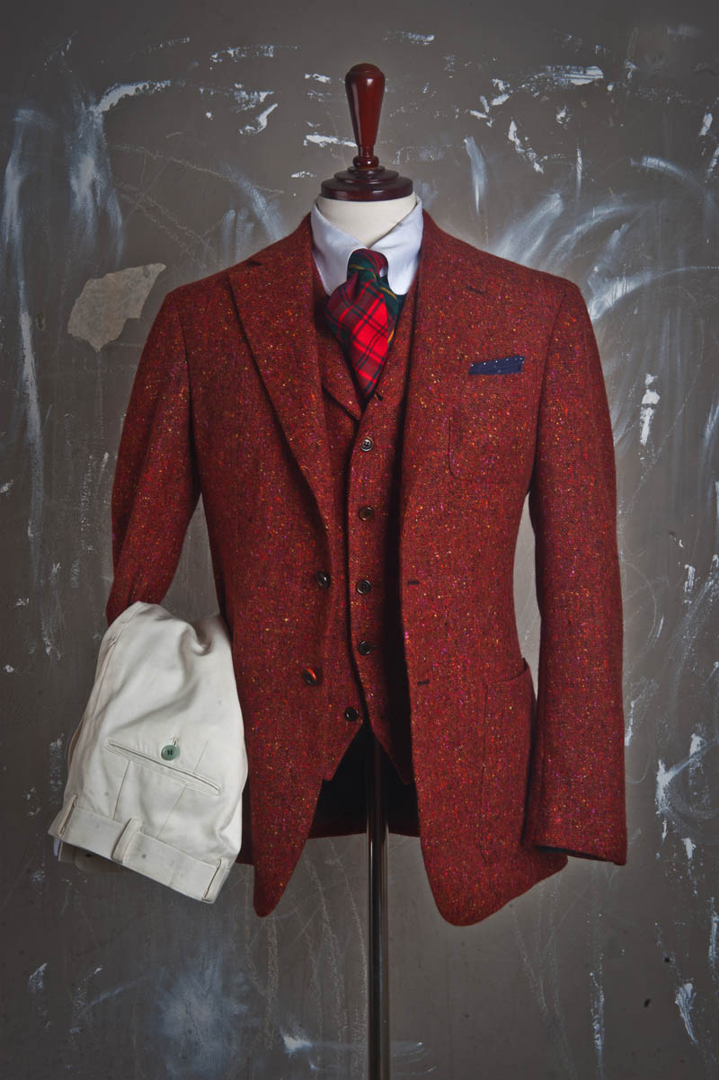 Randy Jacket Red Wool grain menswear 1