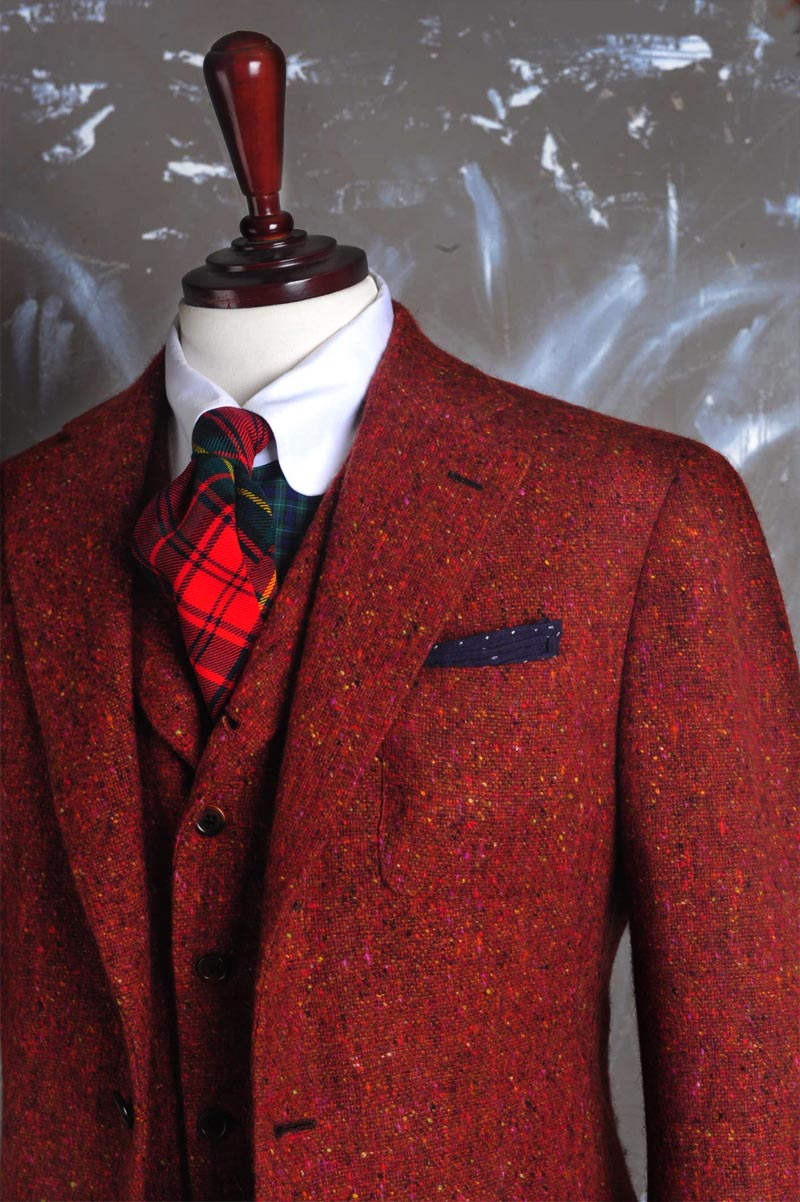 Randy Jacket Red Wool grain menswear 2