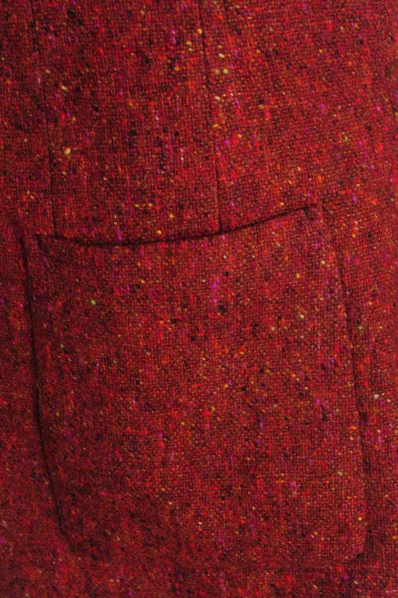 Randy Jacket Red Wool grain menswear 3
