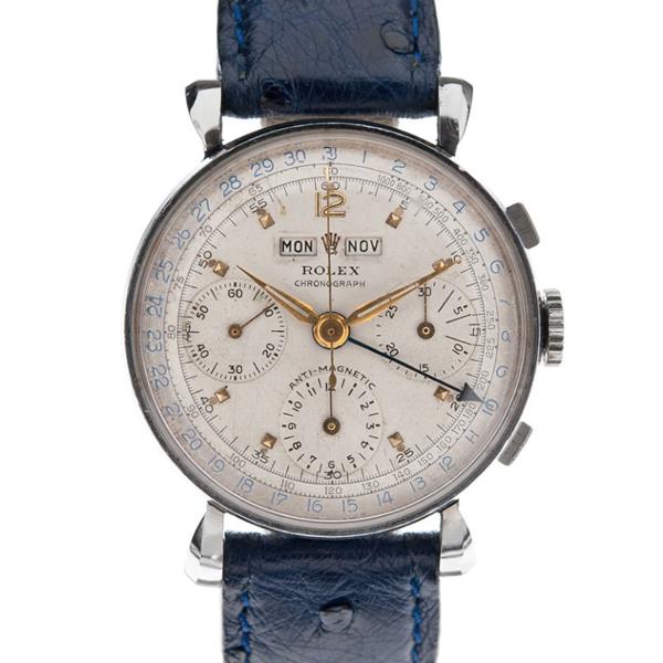 Vintage Rolex × Ostrich Leather Strap watch