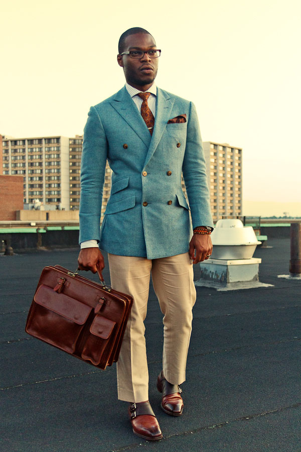 It's Go Time leather bag successful men's style