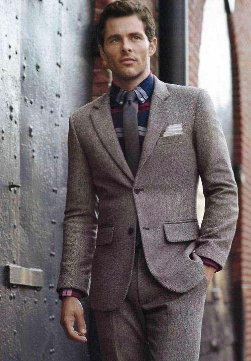 James Marsden Grey Suit & tie menswear