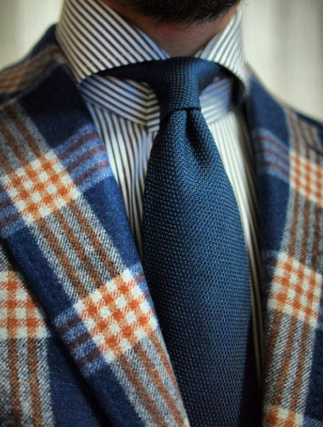 St. Tropaz & Plaid #menswear Stripe #fashion