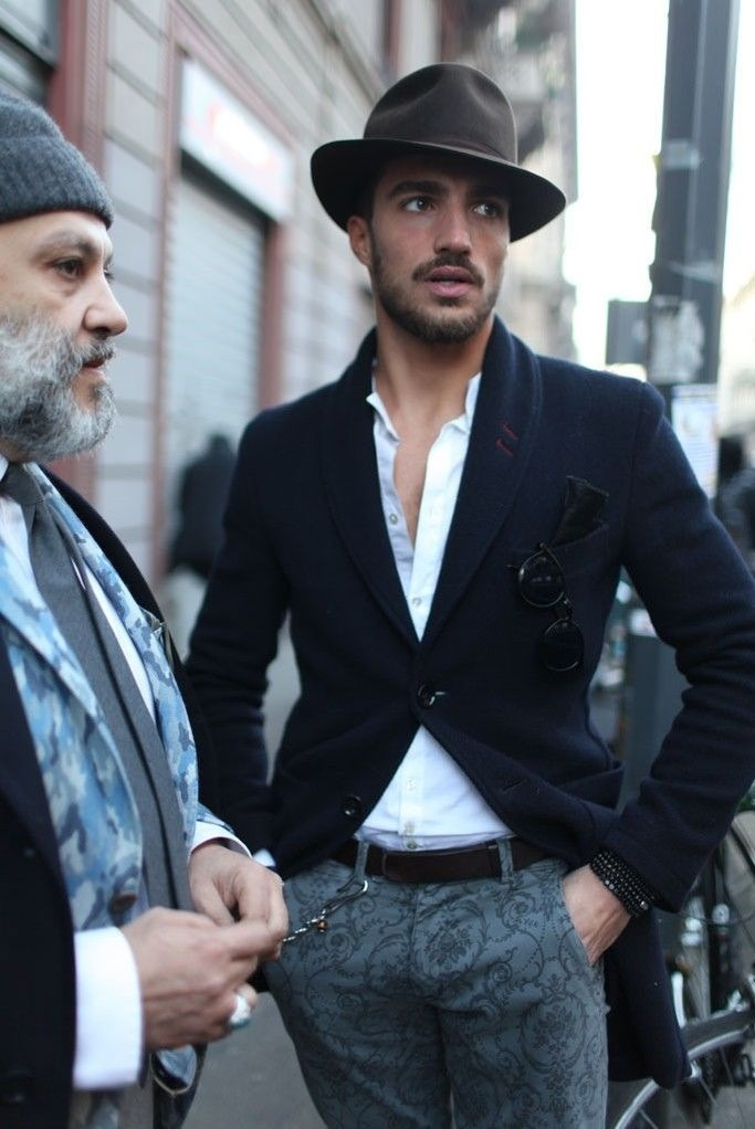 Mariano Di Vaio Fedora floral embroidery pants wool coat