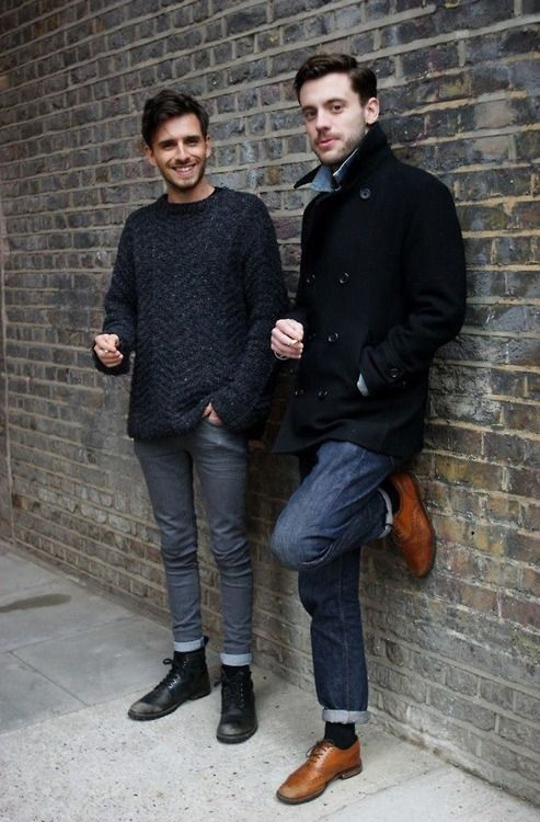 Black jeans fashion men