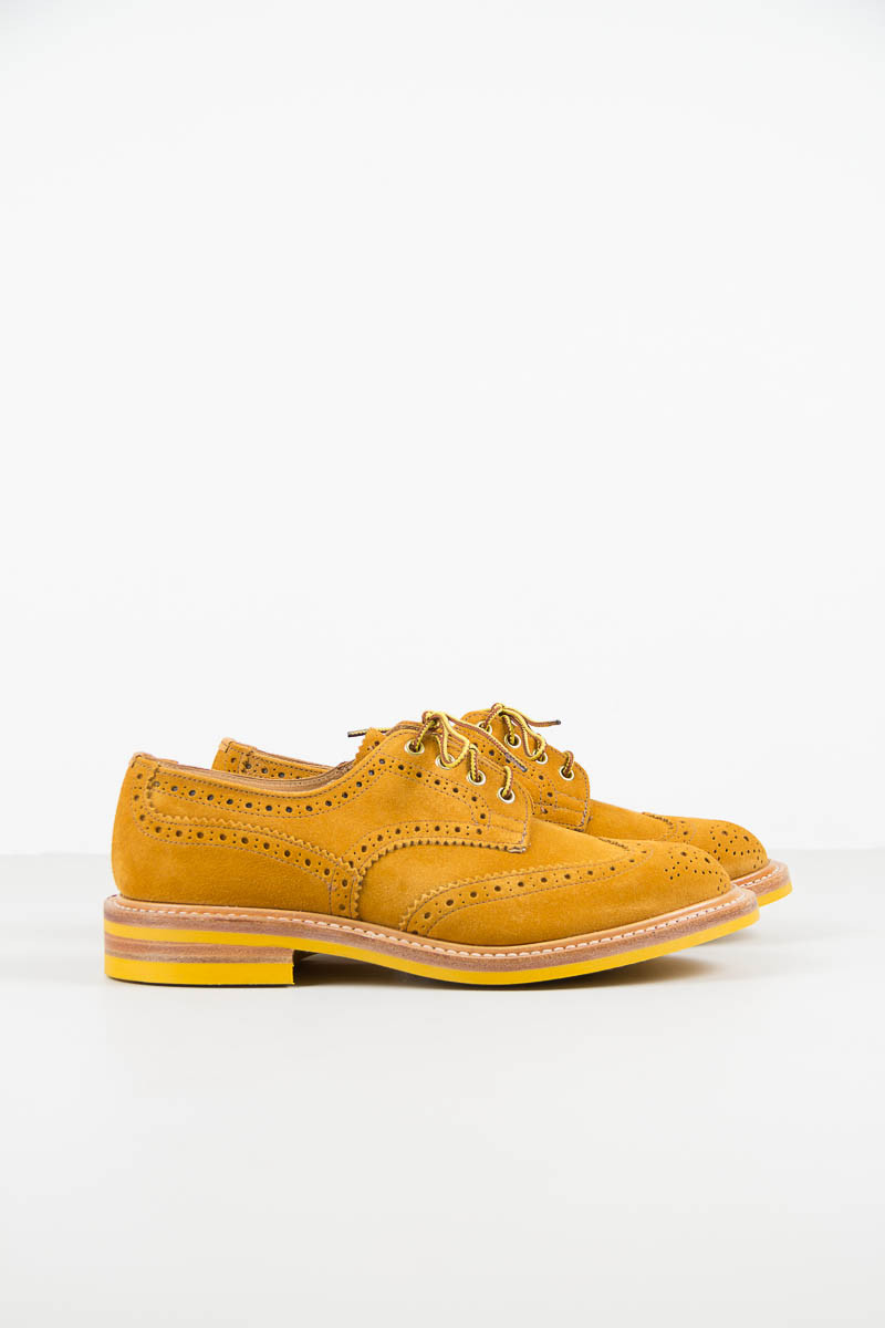 Curry Suede Brogue by Tricker's, the Keswick Brogue