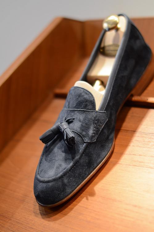 Edward Green Tassel Loafers in suede