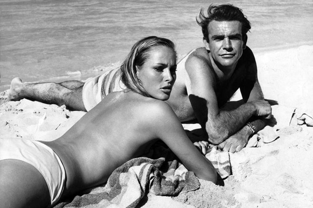 James Bond & Ursula Andress Dr. No on set 1