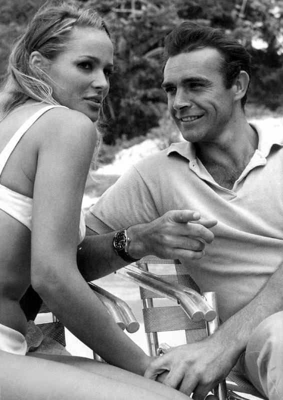 James Bond & Ursula Andress Dr. No on set 12