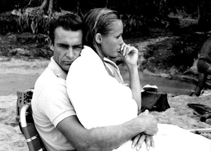 James Bond & Ursula Andress Dr. No on set 13