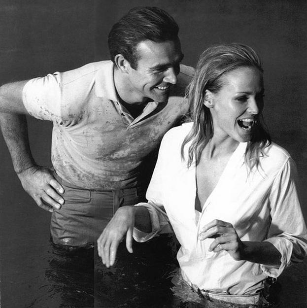 James Bond & Ursula Andress Dr. No on set 14