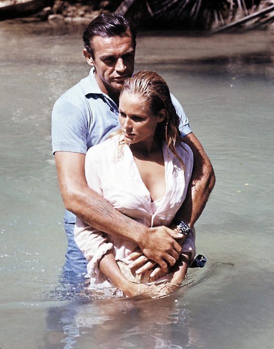 James Bond & Ursula Andress Dr. No on set 15