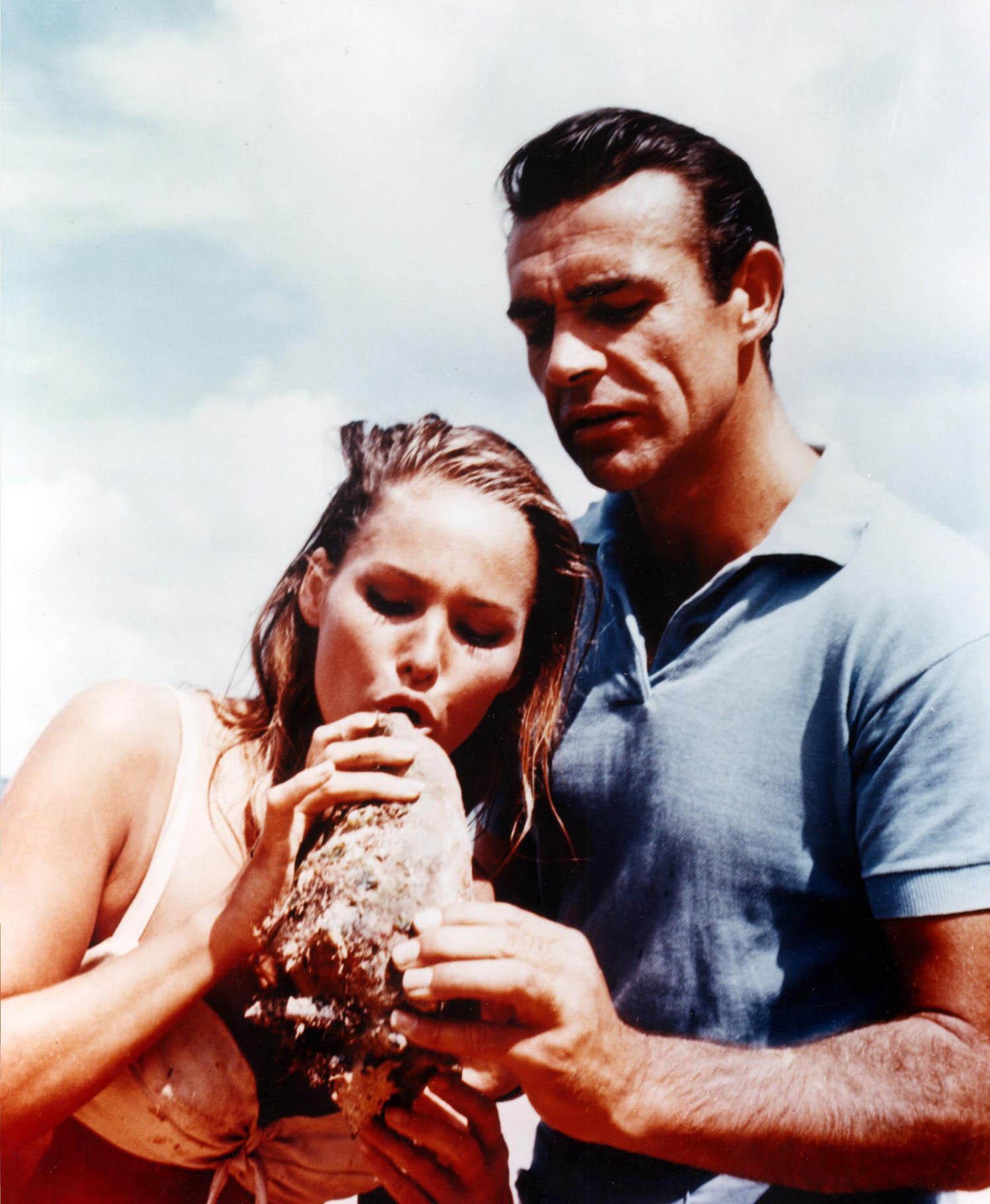 James Bond & Ursula Andress Dr. No on set 16