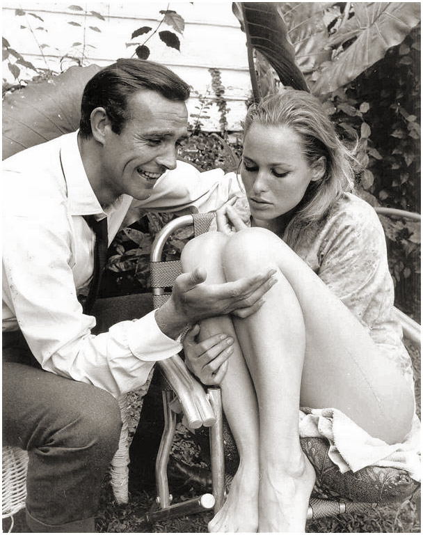 sean connery seducing ursula andress on set 61 soletopia