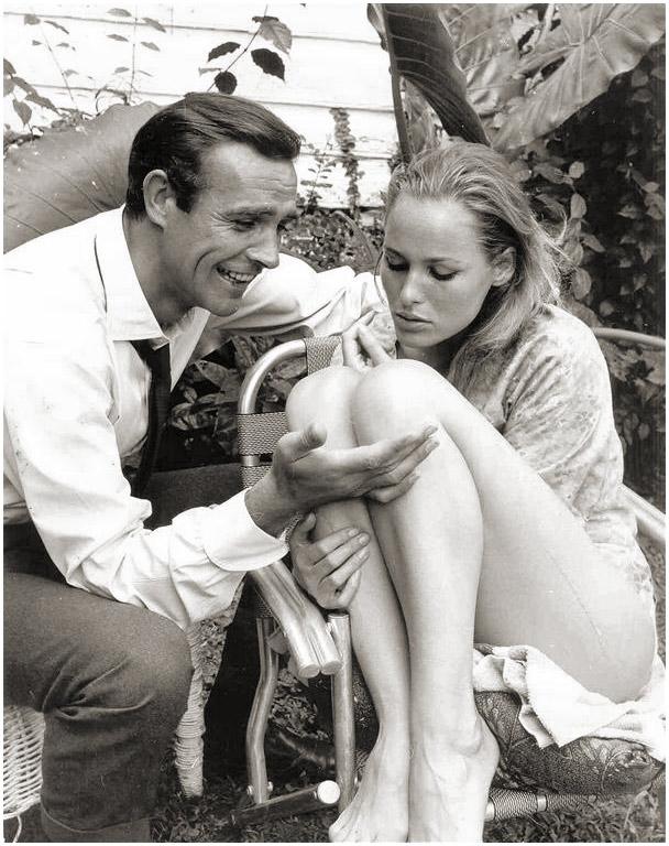 James Bond & Ursula Andress Dr. No on set 18
