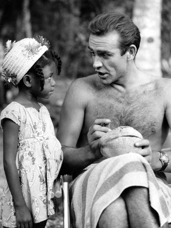 James Bond & Ursula Andress Dr. No on set 5