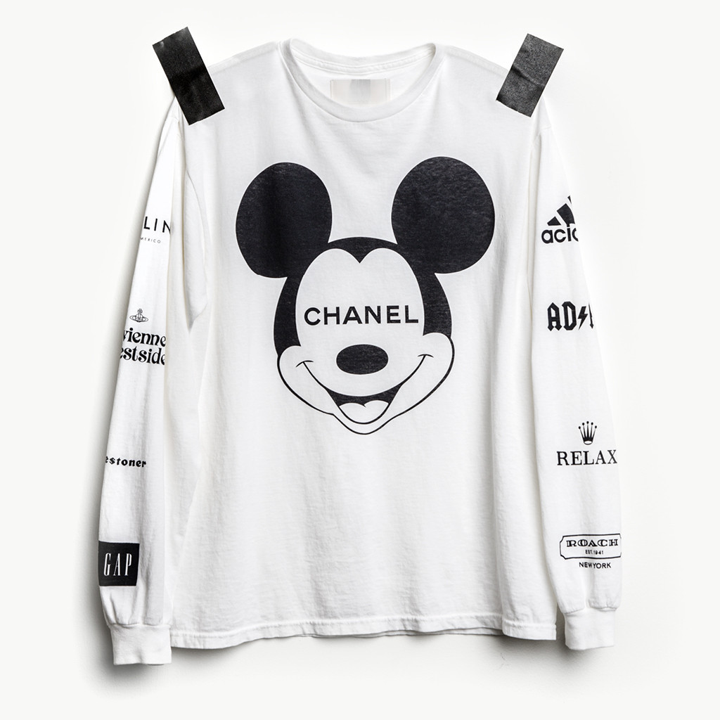 Mickey Mouse × Chanel Ad Shirt, Relax (Rolex), Roach (Coach), and Acidas (Adidas)