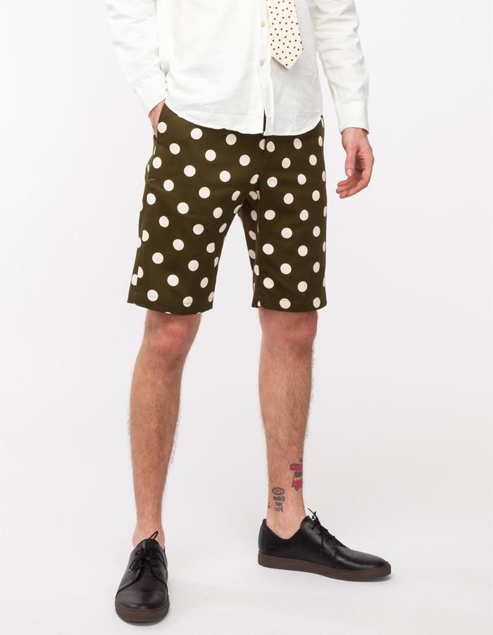 Olive Polka Dot Shorts Mark McNairy 2