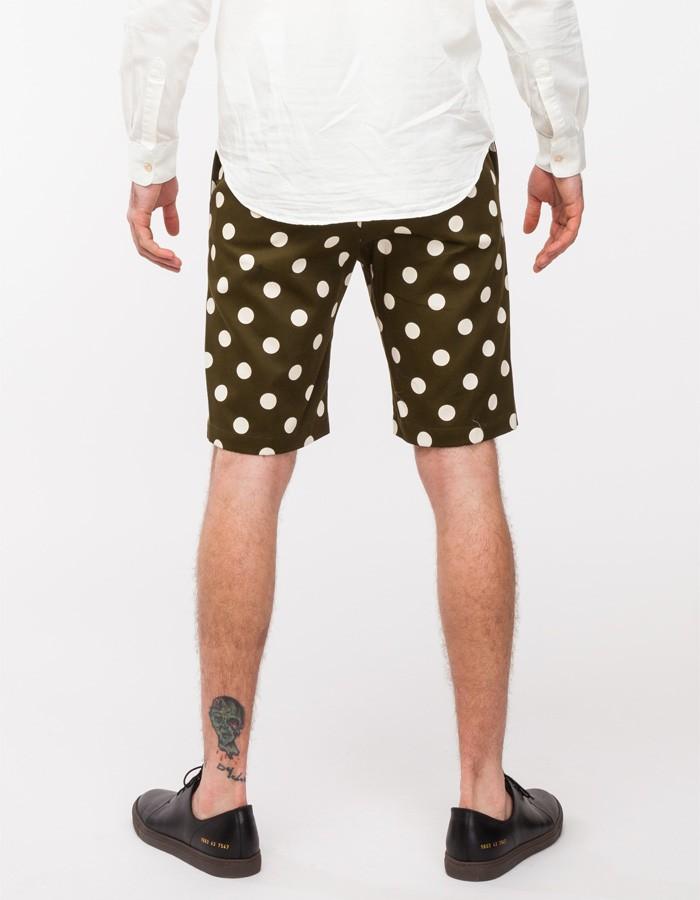 Olive Polka Dot Shorts Mark McNairy 3