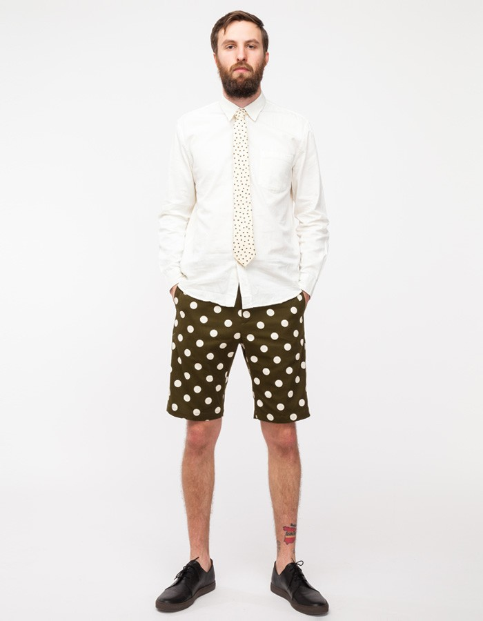 Olive Polka Dot Shorts Mark McNairy 4