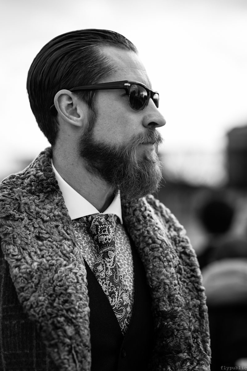 Paisley Tie & Winchester Cutaway, Justin O'Shea menswear