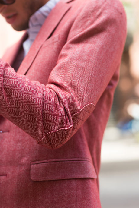 Salmon Herringbone Jacket #mensfashion