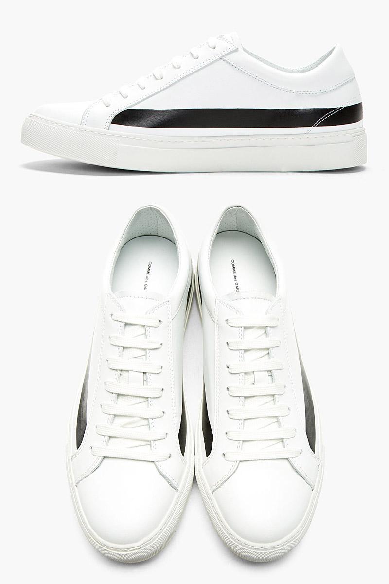 Black Stripe White Sneakers men's shoes