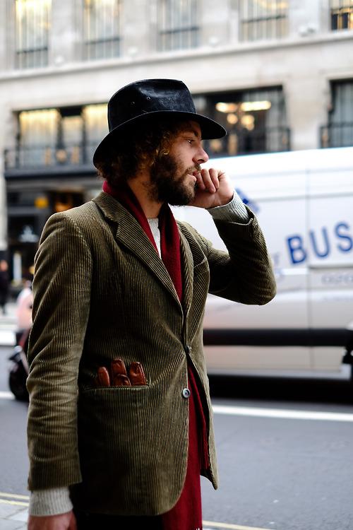 Brown Corduroy Jacket streetstyle
