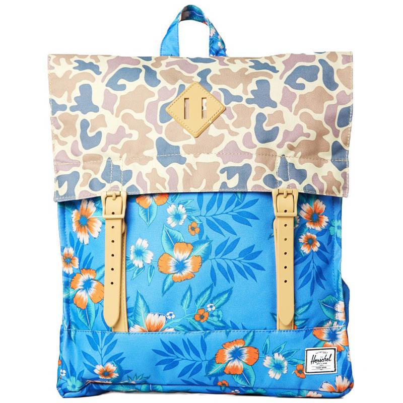 Floral Mix × Camo Herschel Supply back pack