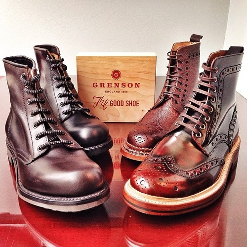 Grenson Boots wingtip buttersoft leather