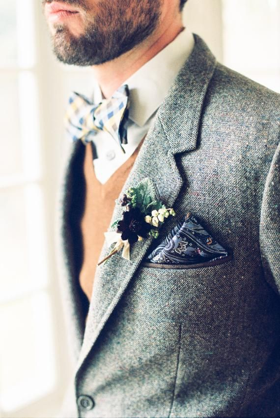 Menswear Accessories Bow Tie Plaid, Paisley PS, Floral Lapel Pin