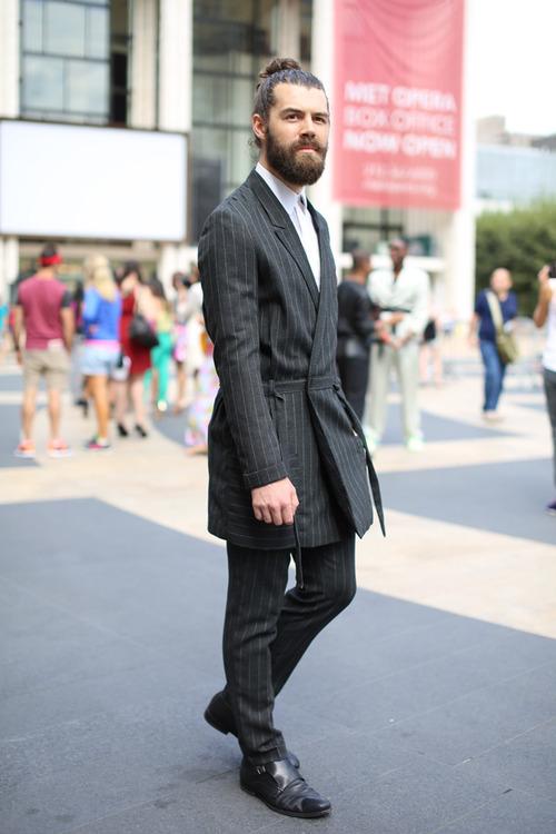 pinstripe robe suit soletopia