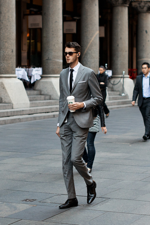 Tall Man × Grey Suit