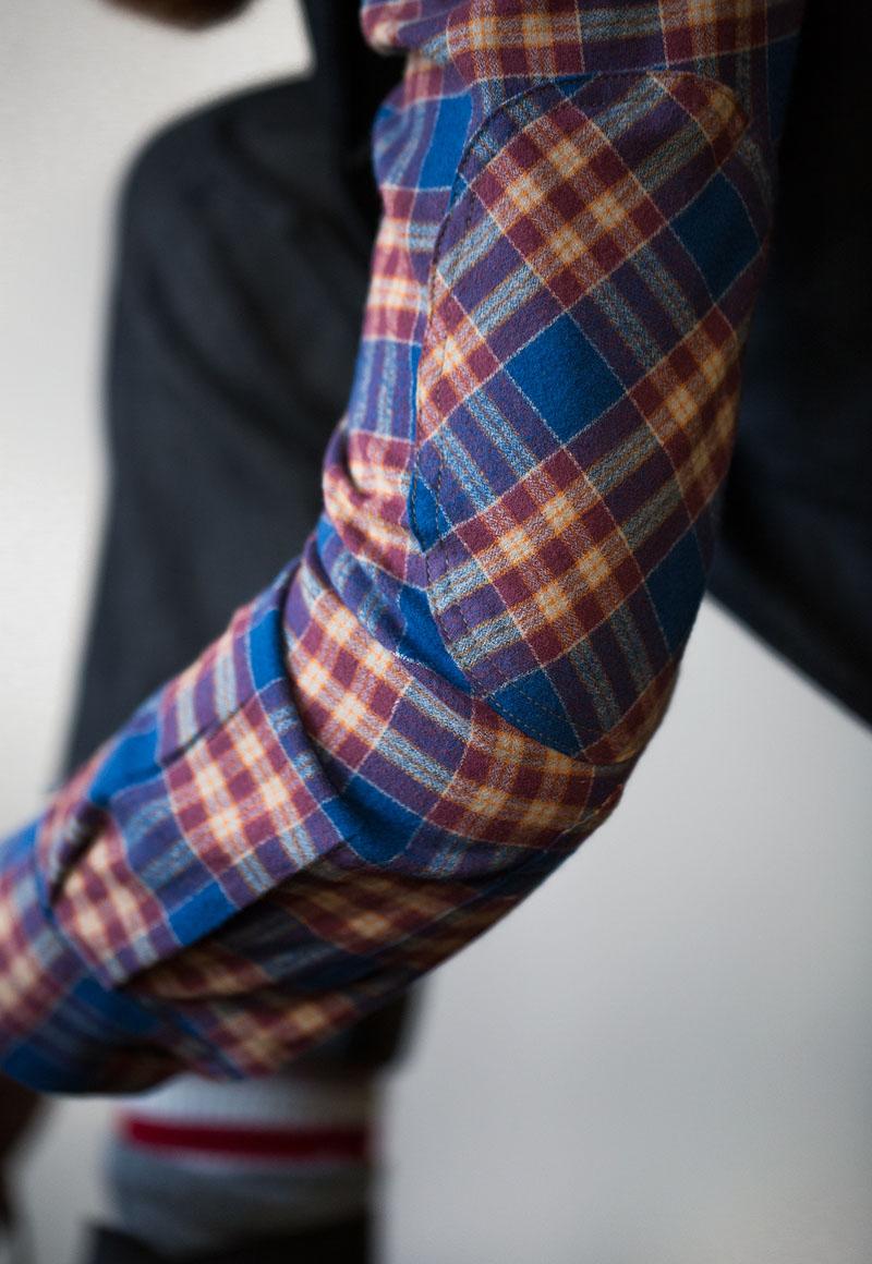 Beautiful Plaid Elbow Patch Shirt, men's fashion