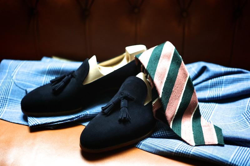 Black Suede Tassel Loafers St. Crispin's Luxury