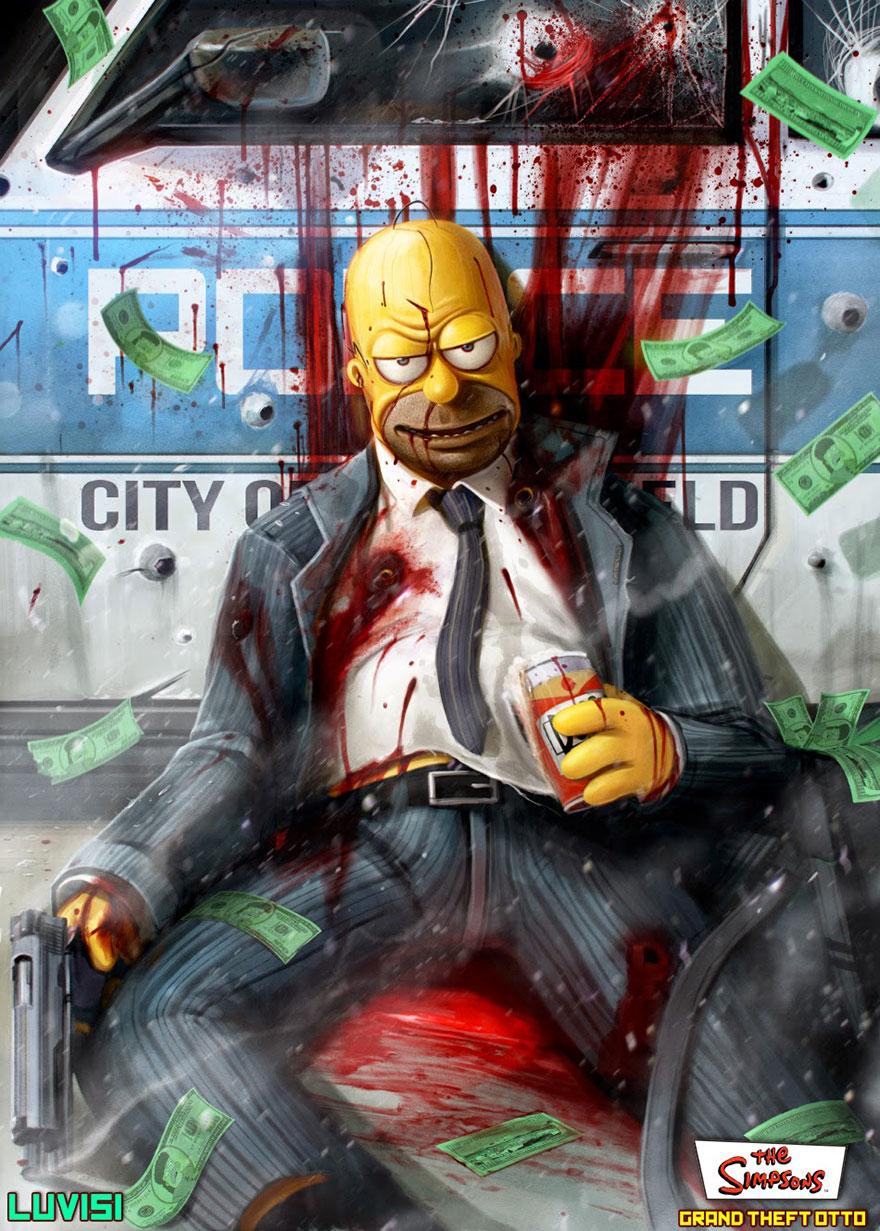 Evil Homer Simpson art