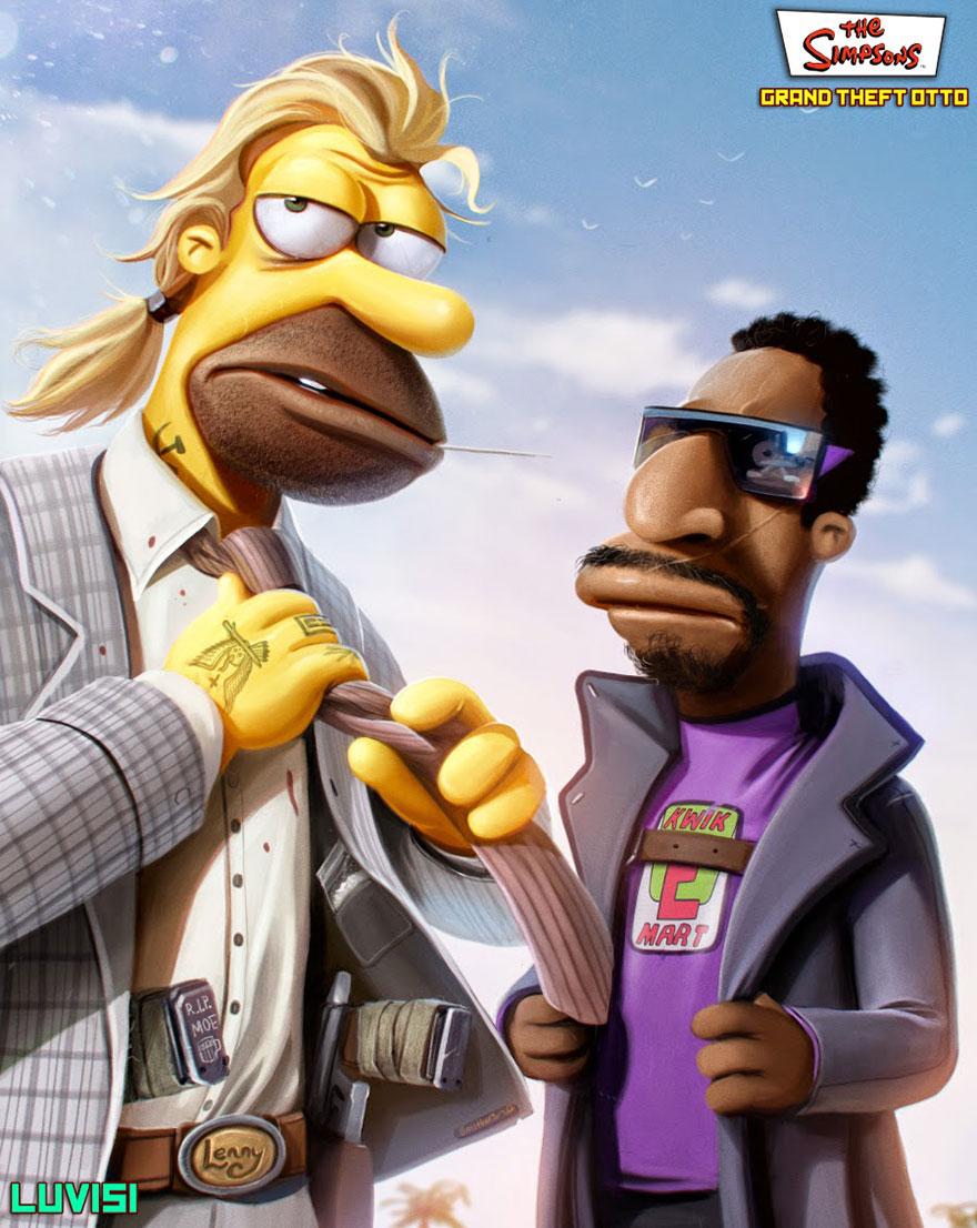 Gangster Simpsons Lenny & Carl