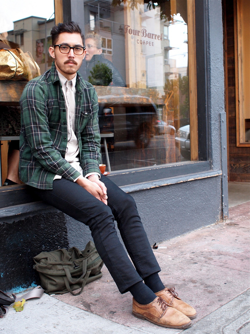 Preppy Casual Plaid jacket hipster