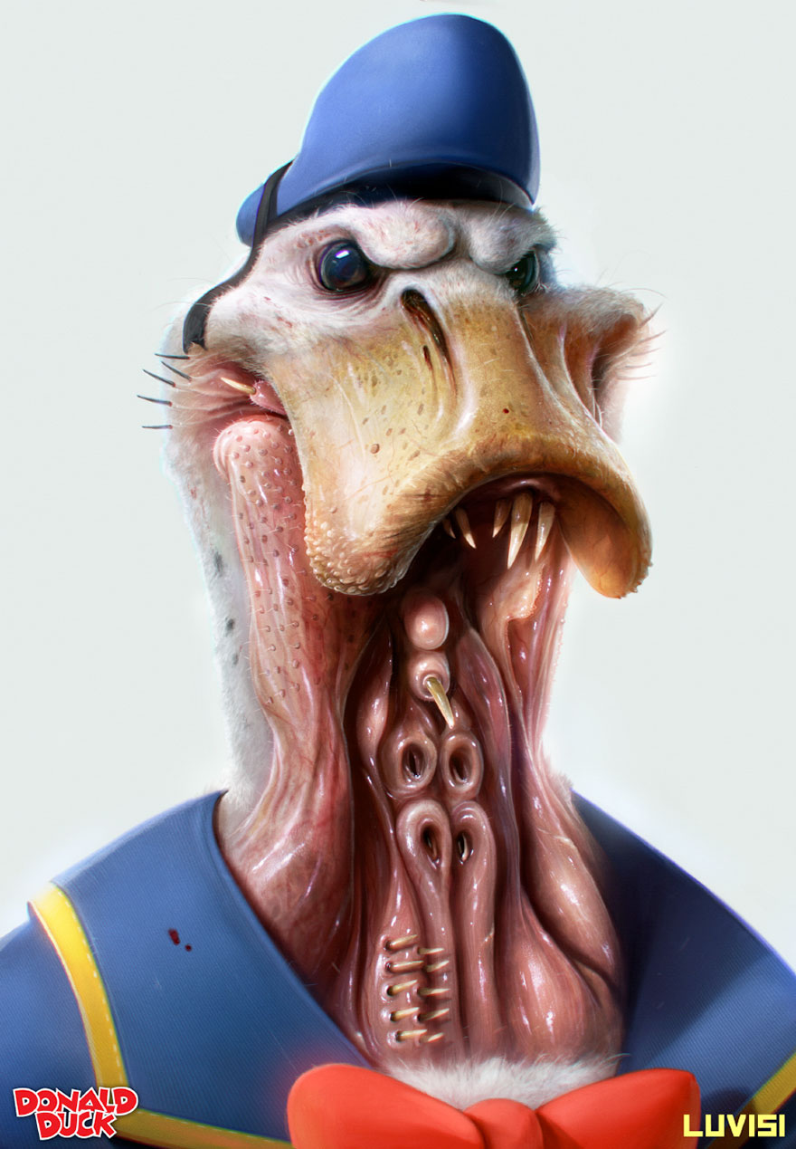 Scary Donald Duck