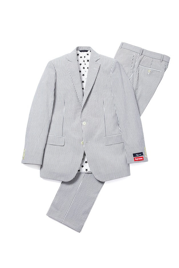 Supreme × Brooks Brothers seersucker suit