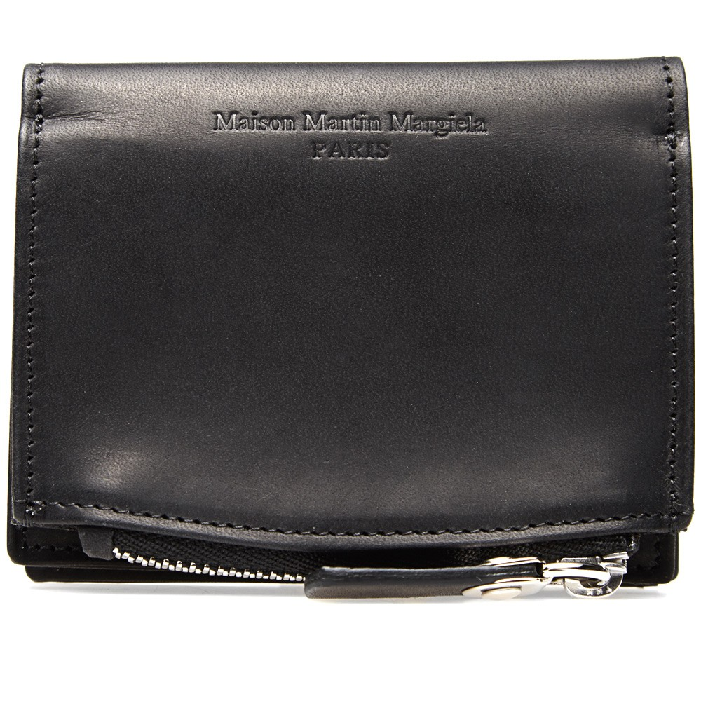 Burnished Leather Pouch Wallet Maison Martin 2