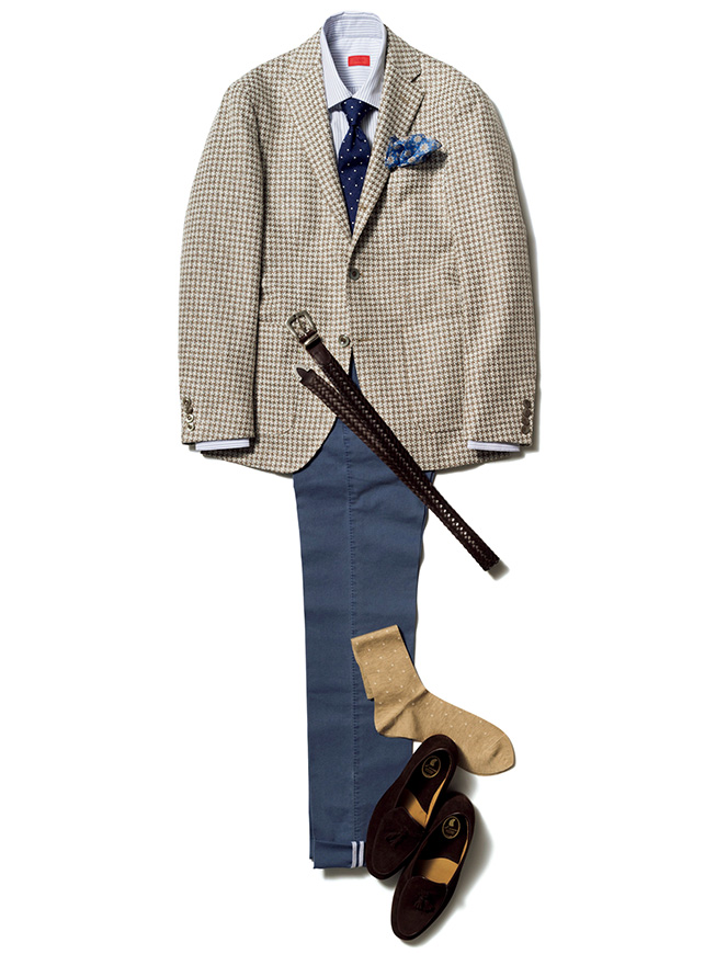 Earthy Houndstooth men's suit jacket Lubiam