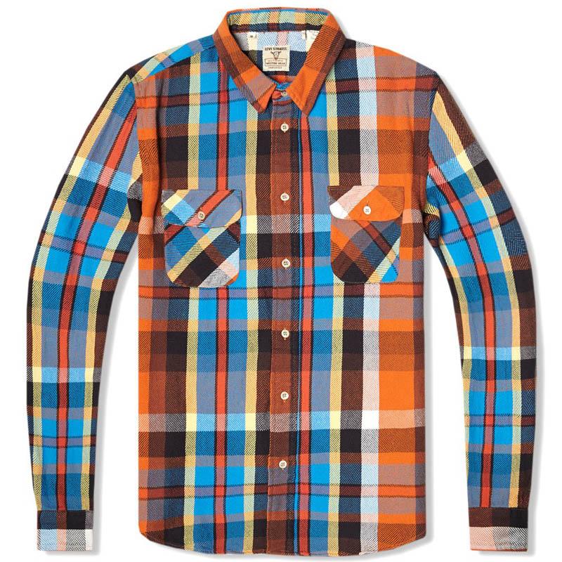 Levi's Vintage Shorthorn Shirt orange plaid