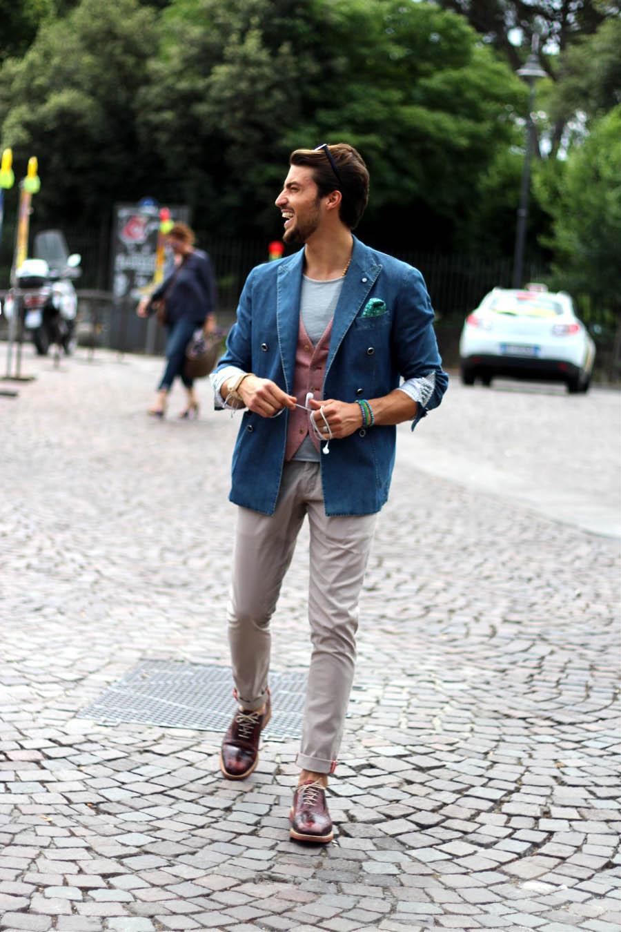 Menswear Streetstyle at Pitti Uomo